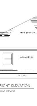 Grande House Plan - Side Elevation
