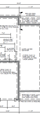 Town Home Design - Foundation Plan