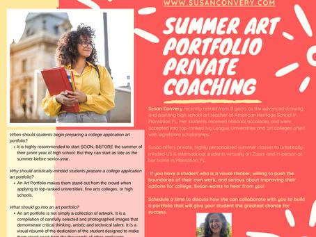 Summer Art Portfolio Classes