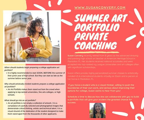 SUMMER ART PORTFOLIO Private Coaching.pn