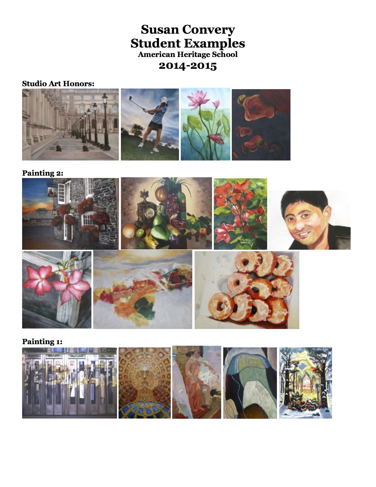 Susan Convery Student Examples 2014 2015