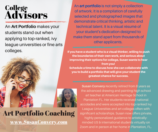 An Art Portfolio makes your students stand out when applying to top-ranked, ivy league universities
