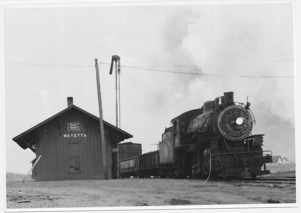 32 Rock Island Mayetta KS Depot 1950 W E
