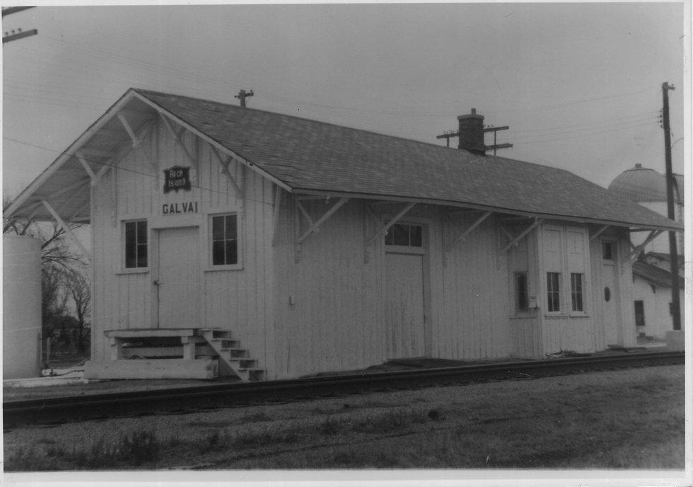 17 Rock Island Depot Galva KS 1969 Frank