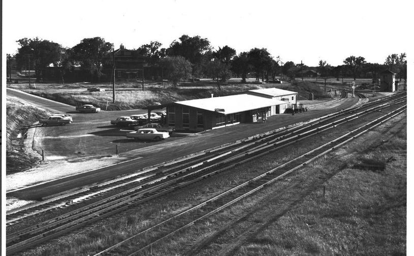 ATSF depot & interlocking tower