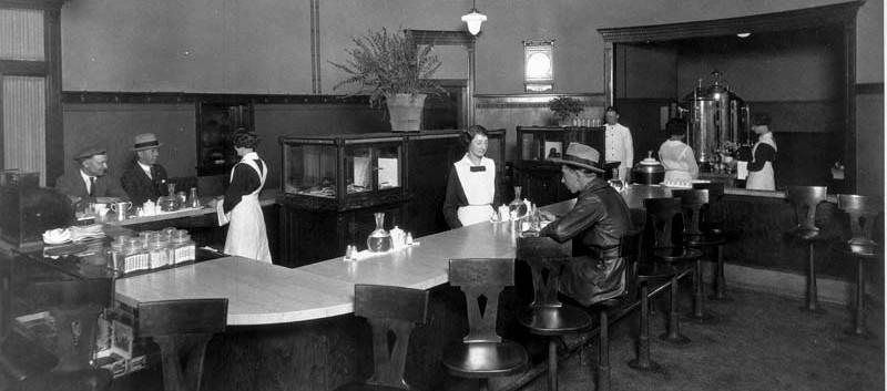 ATSF Fred Harvey Lunchroom