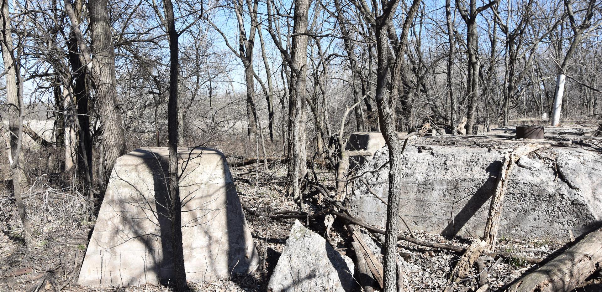 CRIP base remains of water tanks