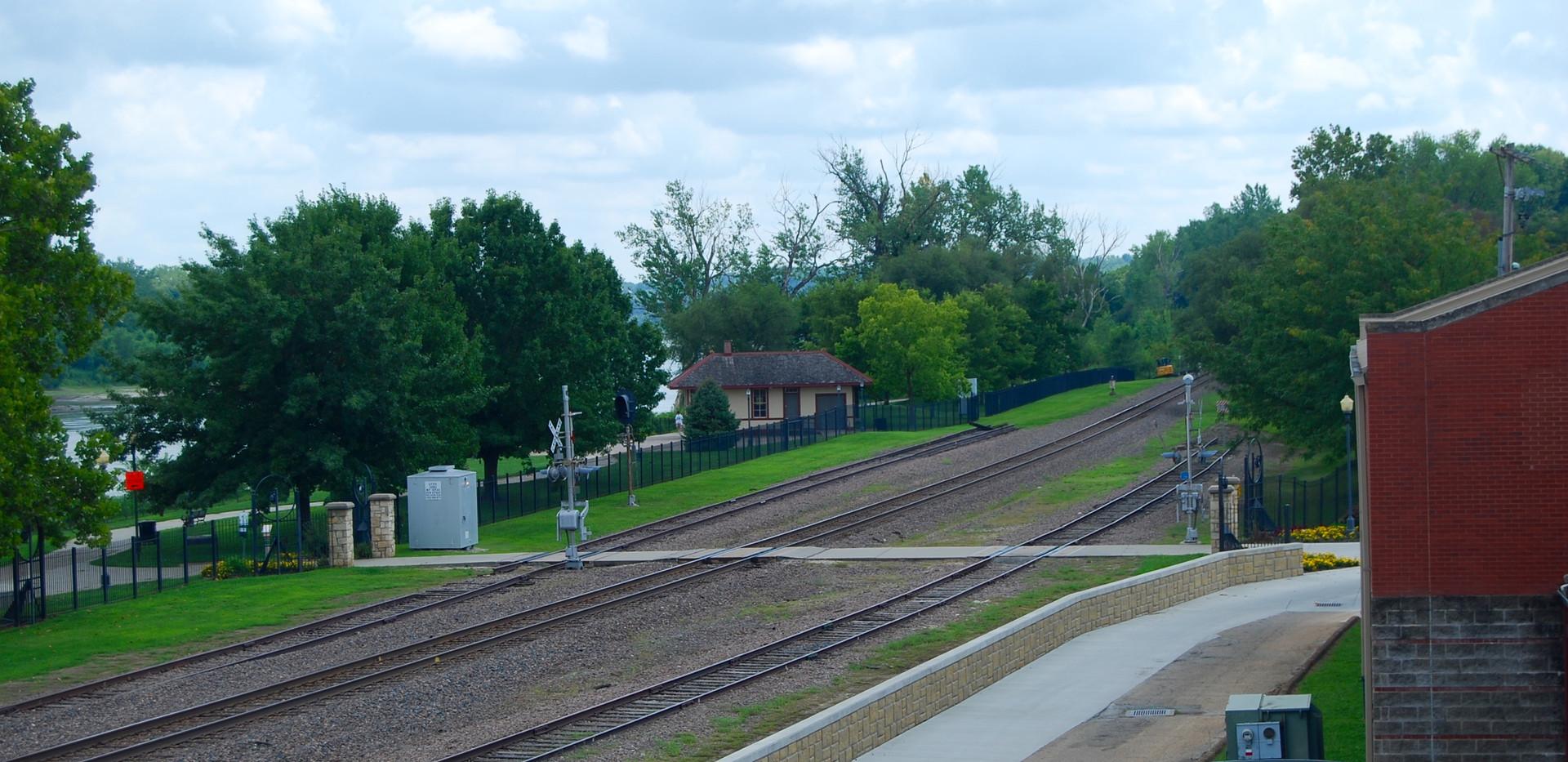 Union Station (CGW depot/bridge tender pictured)