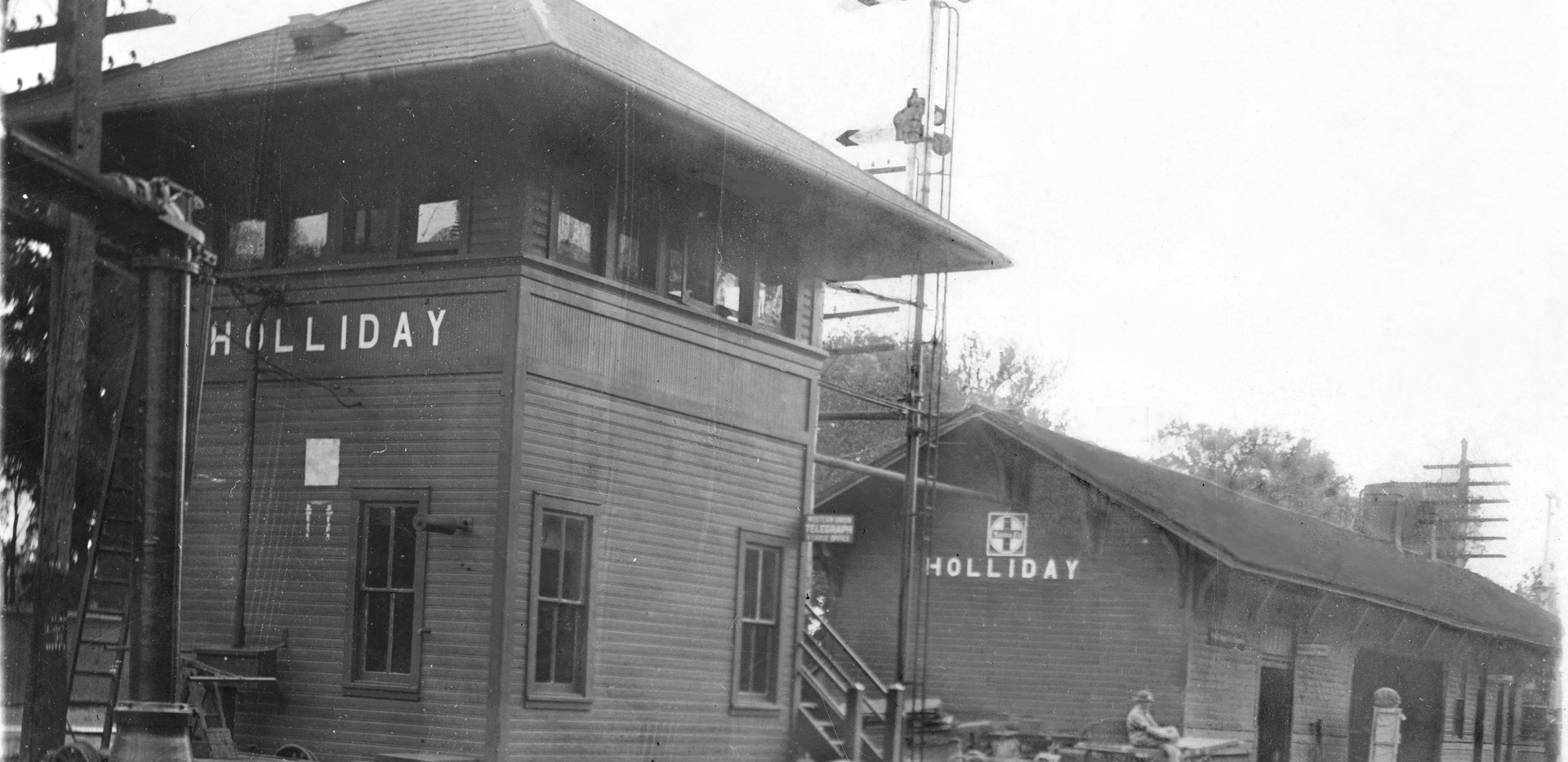 ATSF depot and tower