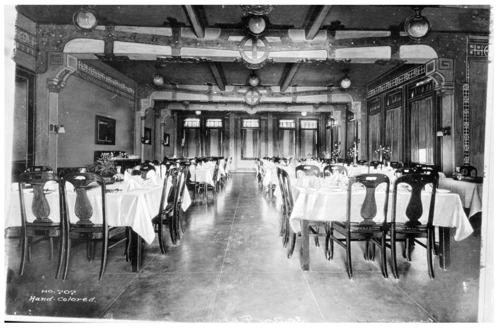 ATSF depot, Fred Harvey Hotel, the Sequoyah.