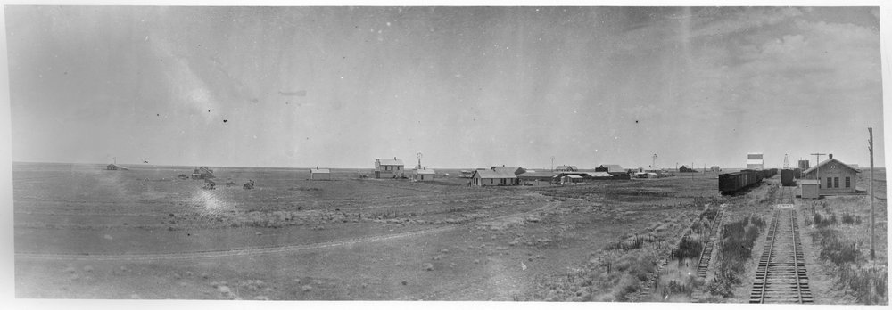 ATSF depot in panoramic view