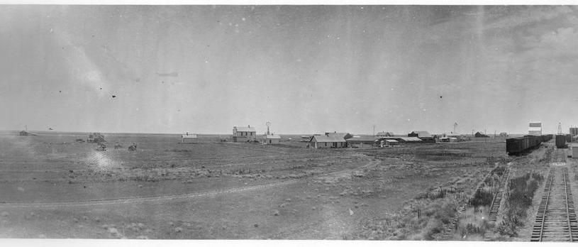 ATSF depot in panoramic view