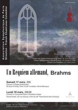 Affiche Brahms A4