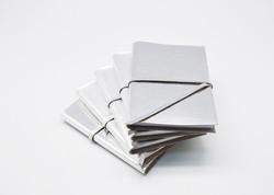 Metallic Silver Journal