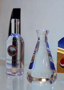 Crystal in bottle shape