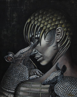 Queen with armadillos