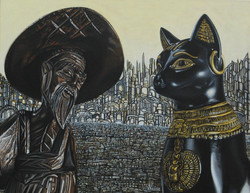 When the sage and the cat met, mutual understanding was obvious