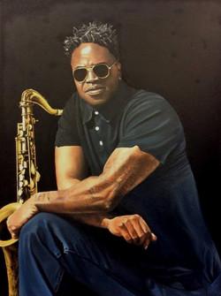 Portrait of a saxophonist