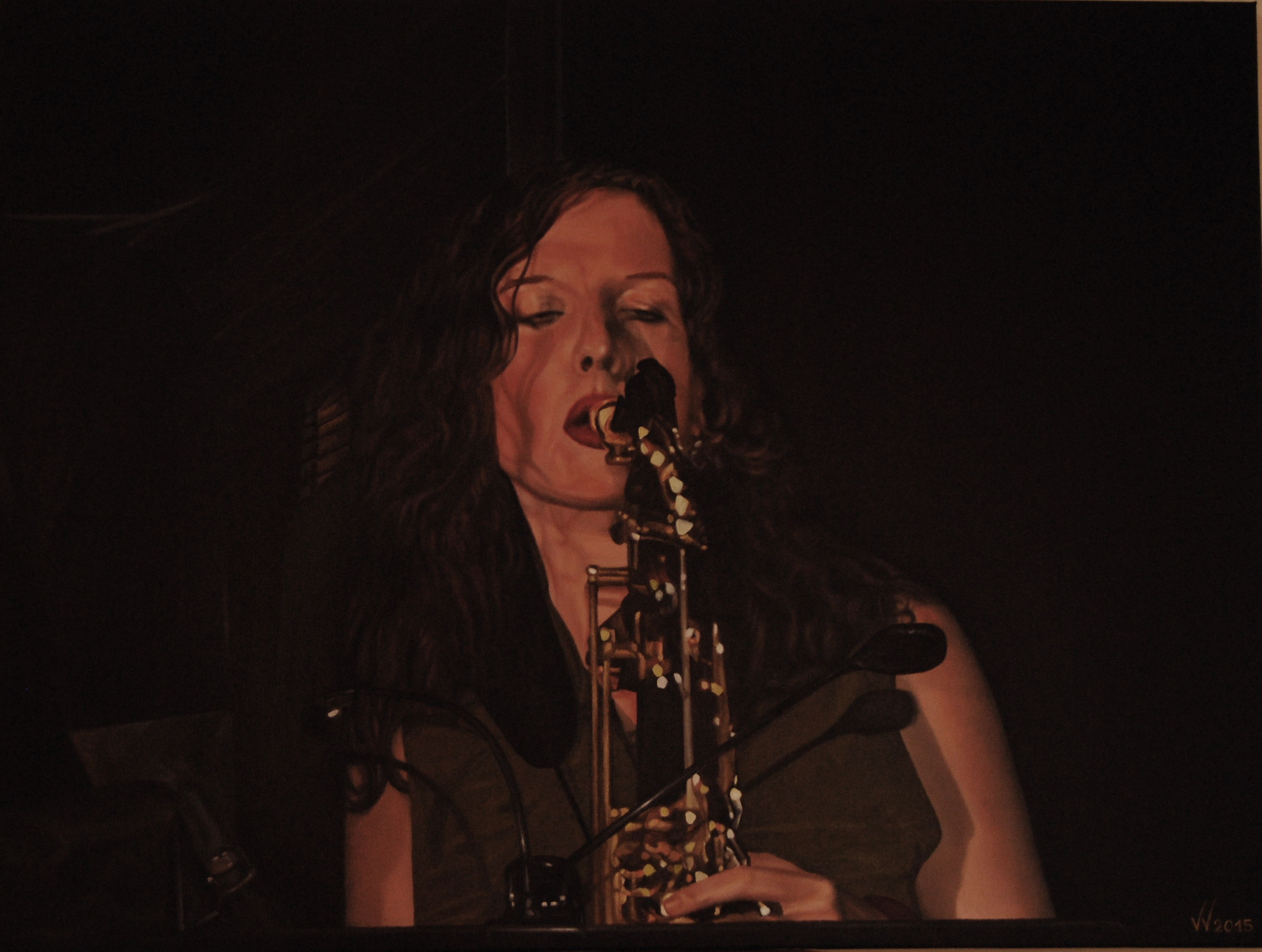 Portrait of a saxophonist