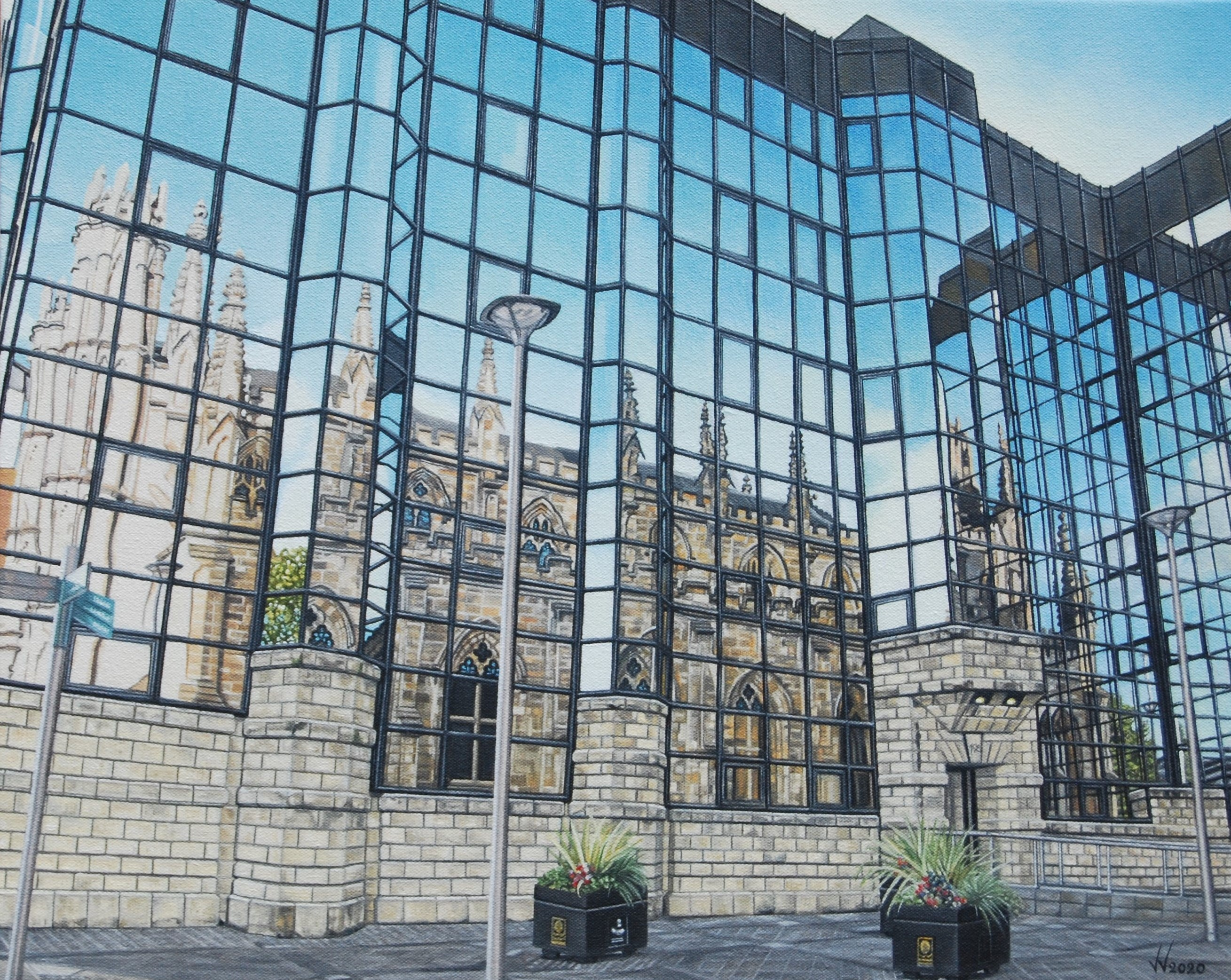 Whilst I was in Glasgow this reflection attracted my attention.