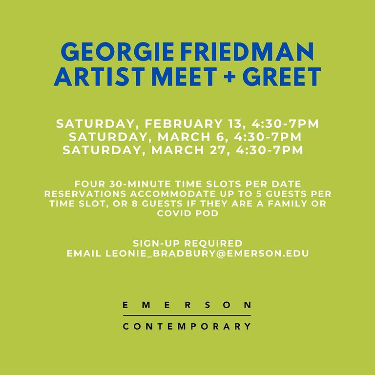 Georgie Friedman Artist Meet and Greet