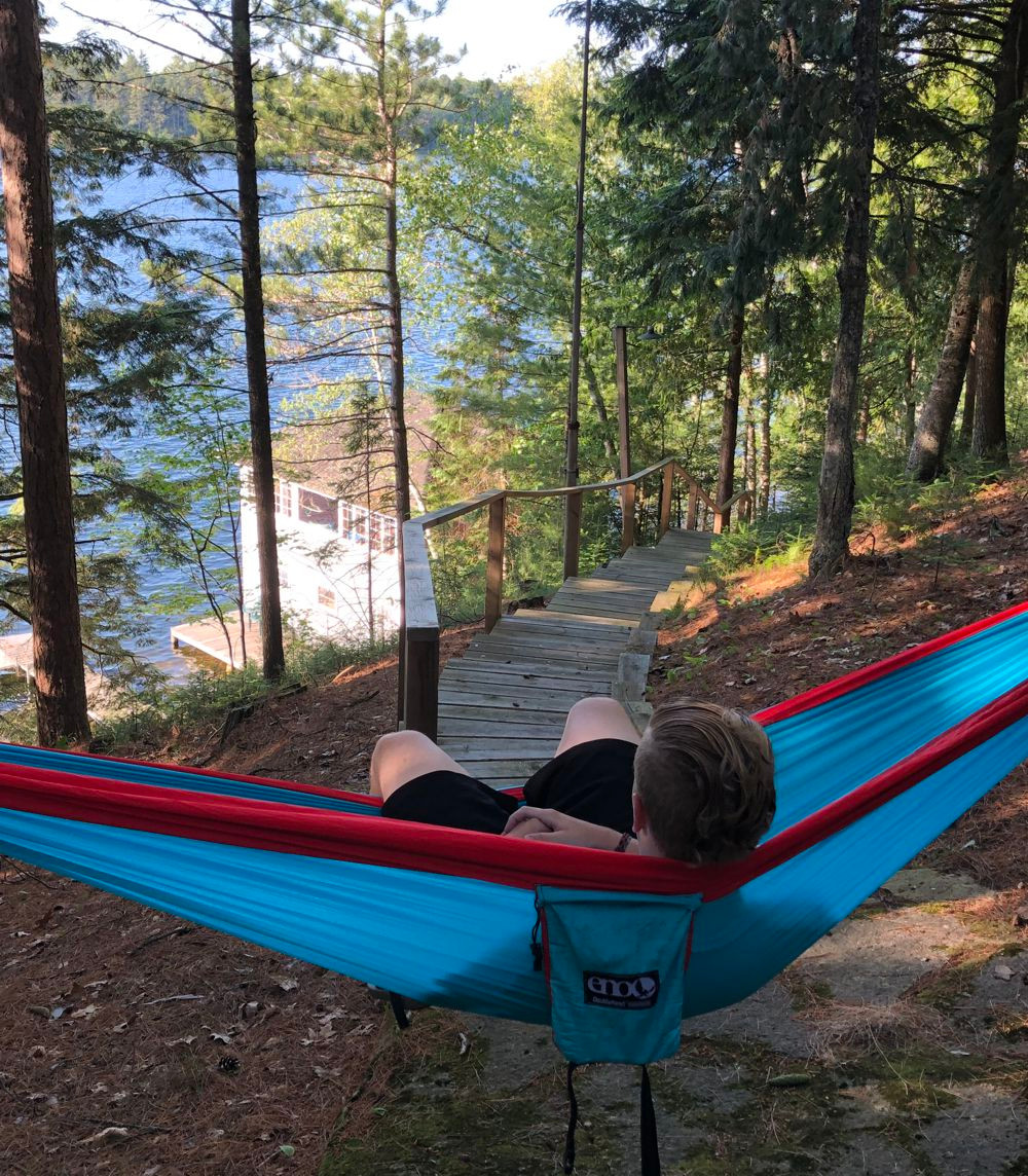 hammock by the lake