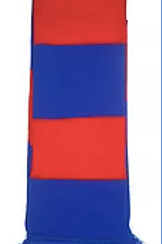 Red & Blue Bar Scarf