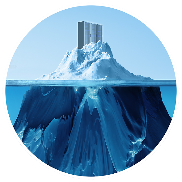 data center servers on an iceberg