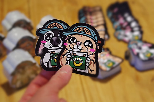 Gummy & Charlie Begging Stickers