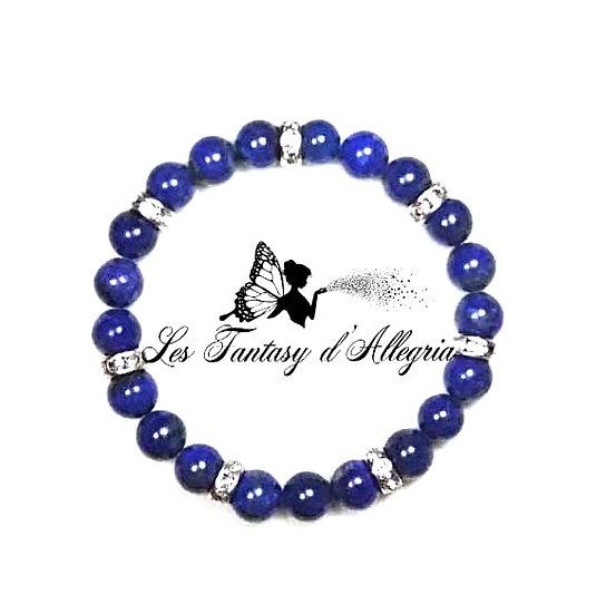 bracelet en perles lapis lazuli 8mm