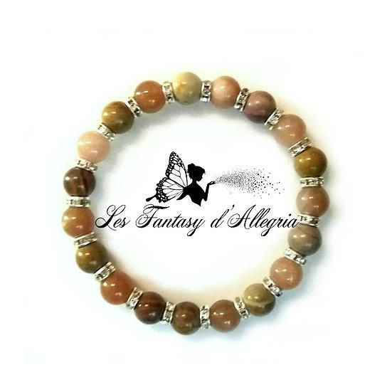 bracelet en perle mookaite mokaite sunstone pierre de soleil 8mm