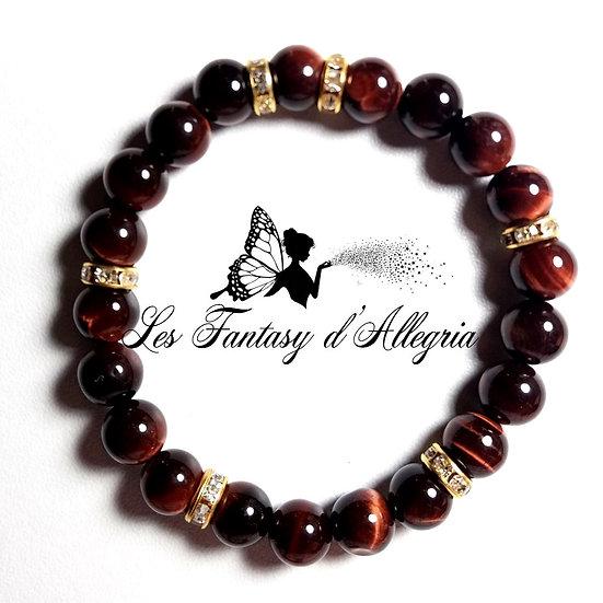 bracelet de perles oeil de taureau 8mm