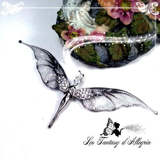 bijoux pendentif ange aile de fée elfe Lelahel argenté