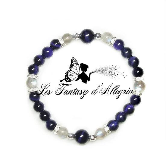 bracelet de perles oeil de tigre labradorite 6mm 8mm