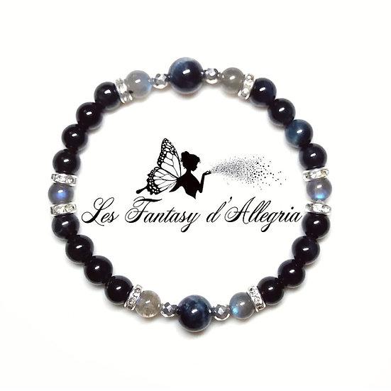 bracelet en perles labradorite oeil de faucon 6mm 8mm