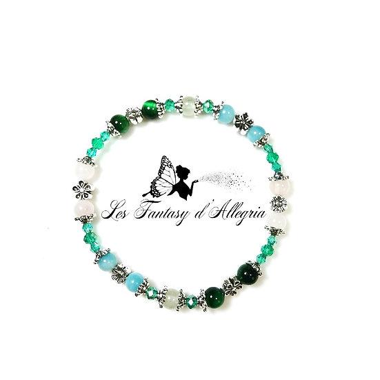 bracelet de perle quartz rose oeil de tigre amazonite phrénite 6mm