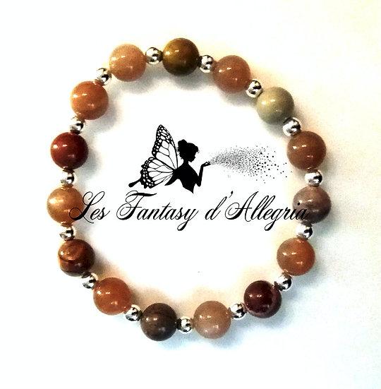 bracelet en perle mookaite mokaite pierre de soleil sunstone 8mm