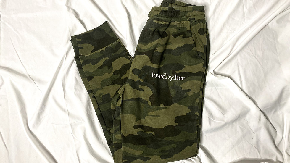 lovedby.her comfy joggers - camo