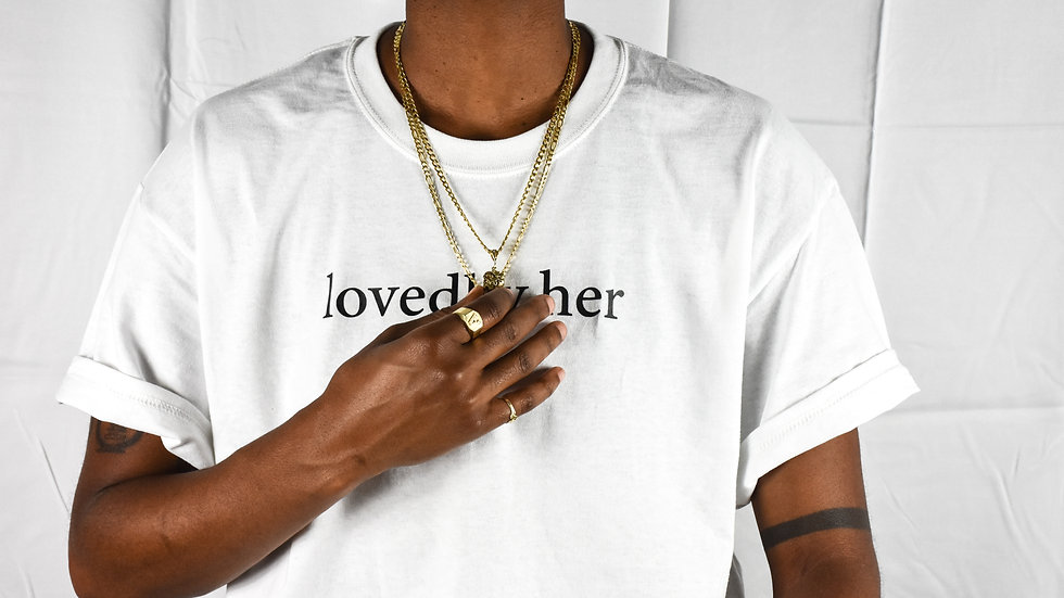 lovedbyher tee -white