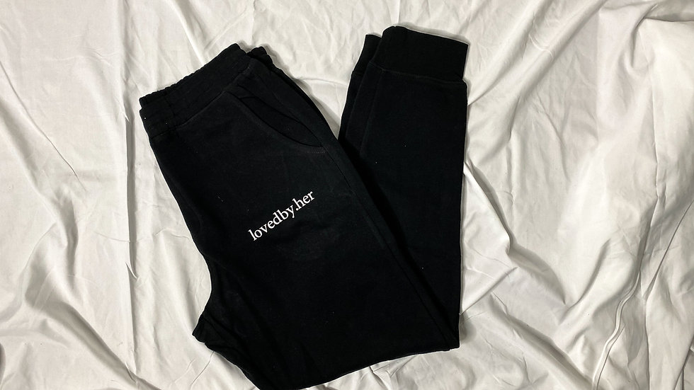 lovedby.her comfy joggers - black