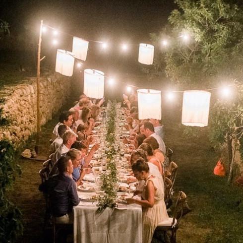light string linnen lanterns 20m