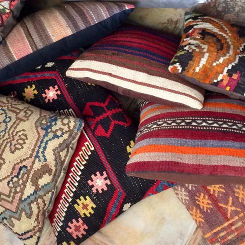 colorful kelim cushions
