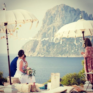 Wedding ceremony overlooking the magical
