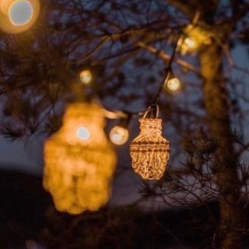 light string shell lanterns 20m