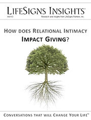 LifeSigns research on giving in churches