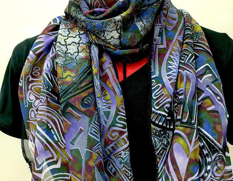 Ellie Shakiba-Violet scarf polyester-02.
