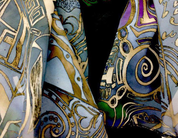 Ellie Shakiba-Violet scarf polyester-01.