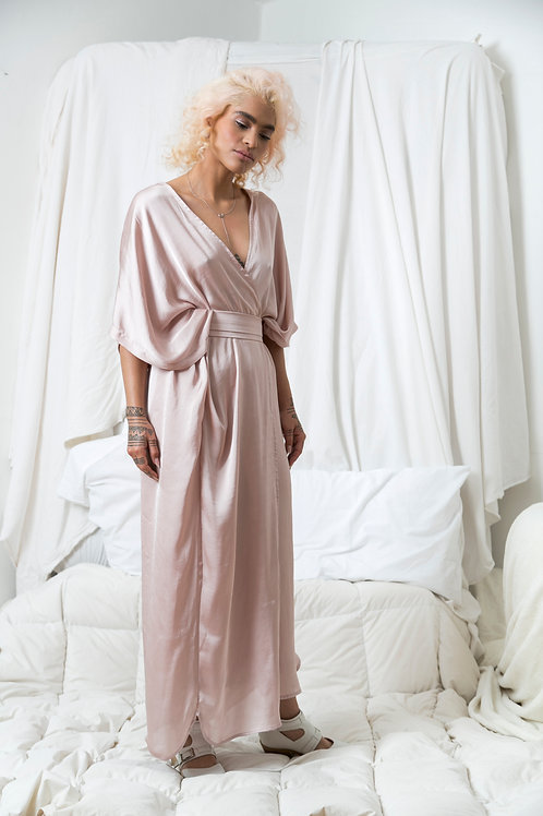 Kimo Dress Seda Pale Rose