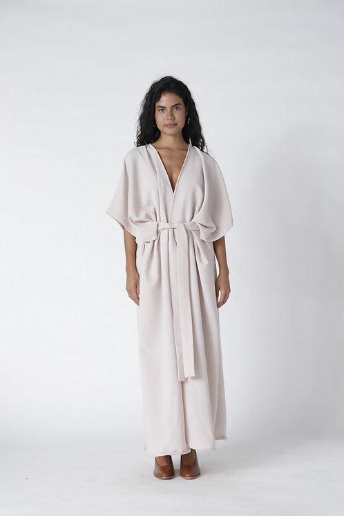 Kimo Dress Con Mangas Rosa