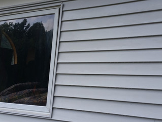 Before and after siding and gutters